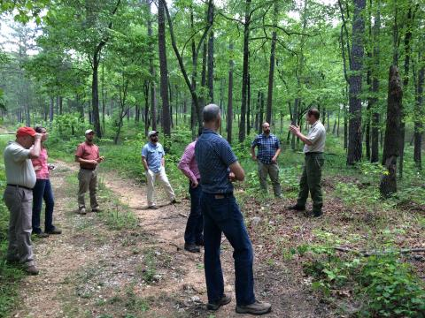 Meeting participants at Talladega National Forest.