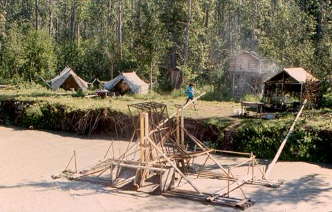 An Athabascan fish camp on the Tanana River, which is fed by glaciers.