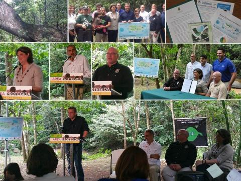 Members of the Protected Areas Conservation Action Team (PA-CAT) during a press conference