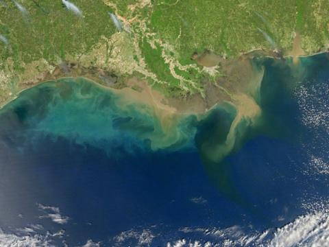 Aerial view of the Gulf of Mexico