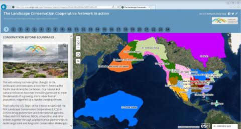 Home page of the LCC Network Story Map