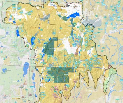 map of Northwest Basin and Range