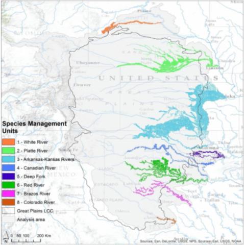 A map of species management units