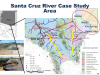 Presentation image of the Sant Cruz River case study area