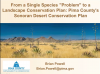 "From a Single Species ""Problem"" to a Landscape Conservation Plan webinar screen shot"